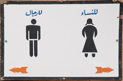 Arabic written WC sign Royalty Free Stock Photos