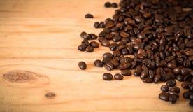 arabica και robusta τα φασόλια καφέ, εκλεκτική εστίαση, αντίγραφο spac Στοκ Φωτογραφία