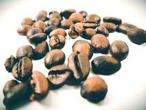 Arabica καφέ φασολιών καφετιά κινηματογράφηση σε πρώτο πλάνο φασολιών αρώματος φρέσκια Στοκ Φωτογραφία