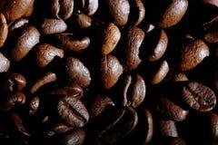 Arabica σύσταση φασολιών καφέ καφετιά Στοκ Εικόνες