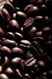 Arabica σύσταση φασολιών καφέ καφετιά Στοκ Εικόνα