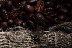 Arabica σύσταση φασολιών καφέ Στοκ εικόνα με δικαίωμα ελεύθερης χρήσης