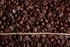 Arabica σύσταση φασολιών καφέ Στοκ φωτογραφίες με δικαίωμα ελεύθερης χρήσης