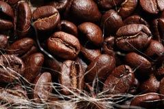 Arabica σύσταση φασολιών καφέ Στοκ φωτογραφία με δικαίωμα ελεύθερης χρήσης