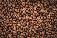 Arabica υπόβαθρο φασολιών καφέ Στοκ Εικόνες