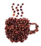 arabica φασολιών καφές που απομονώνεται καφετής Στοκ Φωτογραφία