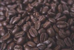 Arabica φασόλια καφέ για το υπόβαθρο Στοκ Φωτογραφία