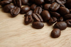 Arabica coffee beans. Medium roasted Arabica coffee beans close up shot Royalty Free Stock Image