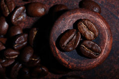 Arabica coffee beans texture Stock Photo