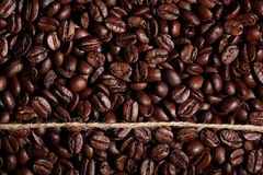 Arabica coffee beans texture Royalty Free Stock Photos