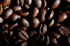 Arabica coffee beans texture brown Stock Photo
