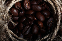 Arabica coffee beans texture brown Royalty Free Stock Photo