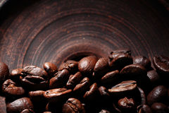 Arabica coffee beans texture brown Royalty Free Stock Photography