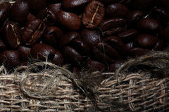 Arabica coffee beans texture Royalty Free Stock Image