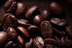 Arabica coffee beans texture Stock Image