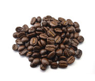 Arabica coffee beans with white background. Arabica coffee beans with white  on background Stock Image