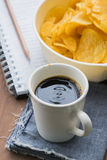 Arabica coffee cup. Cup of espresso coffee in homemade cafe shop Royalty Free Stock Photography