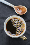 Arabica coffee cup. Cup of espresso coffee in homemade cafe shop Royalty Free Stock Photo