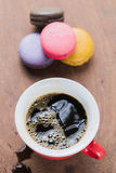 Arabica coffee cup. Cup of espresso coffee in homemade cafe shop Stock Photo