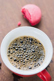 Arabica coffee cup. Cup of espresso coffee in homemade cafe shop Royalty Free Stock Photos