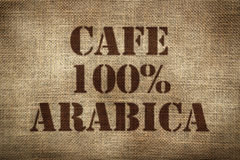 100% arabica coffee Royalty Free Stock Photography