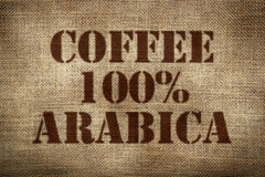 100% arabica coffee Stock Photo