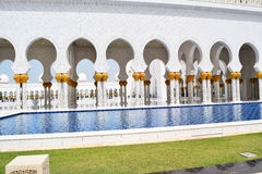 Arabica greatness Sheikh Zayed Grand Mosque. The project was launched by the late president of the United Arab Emirates UAE, Sheikh Zayed bin Sultan Al Nahyan Royalty Free Stock Photo