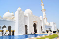 Arabica greatness Sheikh Zayed Grand Mosque. The project was launched by the late president of the United Arab Emirates UAE, Sheikh Zayed bin Sultan Al Nahyan Stock Photos