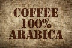 100% arabica koffie Stock Foto