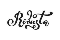Arabica koffieembleem Vectorillustratie van het Met de hand geschreven Van letters voorzien Vector Illustratie