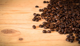 The arabica and robusta coffee beans, Selective focus, copy spac Stock Photography