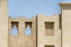Arabien Architecture. Detail of arabien architecture in Dubai Stock Photo