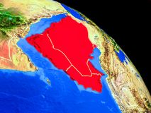 Arabien auf Planet Erde vektor abbildung
