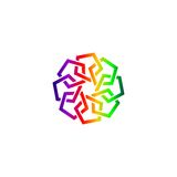 Arabisch abstract embleem Stock Afbeeldingen