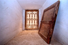 Arabisch blind en venster stock afbeelding
