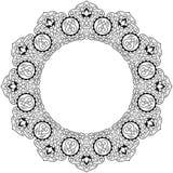 Arabisch cirkelpatroon Royalty-vrije Stock Afbeelding