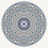 Arabisch cirkelpatroon Stock Afbeelding