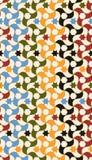 Arabisch deckt nahtloses Muster mit Ziegeln lizenzfreie abbildung