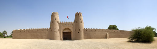 Arabisch fort in Al Ain Stock Foto's