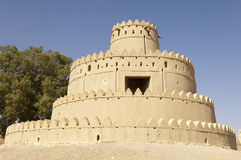 Arabisch Fort in Al Ain, Verenigde Arabische Emiraten Stock Foto