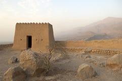 Arabisch Fort in Ras al Khaimah Doubai royalty-vrije stock afbeeldingen