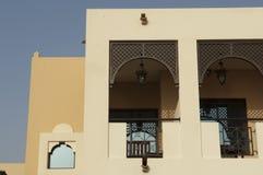 Arabisch Fort in Ras al Khaimah Doubai stock foto's