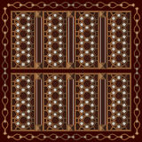 Arabisch Houten Sierkader royalty-vrije illustratie