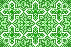 Arabisch naadloos patroon Grean herhaalde achtergrond De traditionele decoratie van het oosten Islamitisch decoratief ontwerp Sam royalty-vrije illustratie