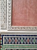 Arabisch ontwerpdetail in Marrakech, Marokko Royalty-vrije Stock Afbeeldingen