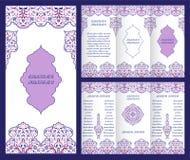 Arabisch overladen boekje stock illustratie