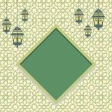 Arabisch patroon, interpretatie van Islamitische motieven Stock Fotografie