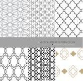 Arabisch plaatste 6 herhaalt patroon moderne abstracte achtergrond Stock Foto's