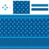 Arabisch zes ster ramadan blauw naadloos patroon vector illustratie
