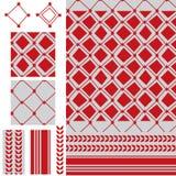 Arabisch zes ster rood modern naadloos patroon royalty-vrije illustratie